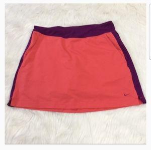 Nike Dri-Fit Purple/Coral Golf Skort Sz M